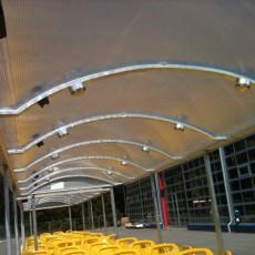 STS Funtrain trailer equipment, polycarbonat roof